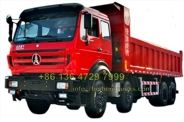 africa north benz 12 wheeler 50T heavy duty dump trucks price