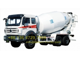 china beiben 2534 cement mixer truck supplier