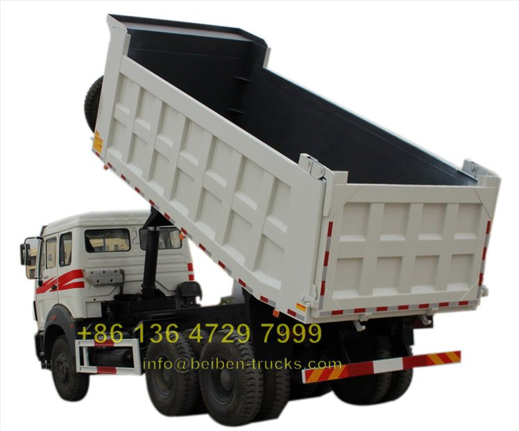china beiben Euro 2 engine dump truck supplier