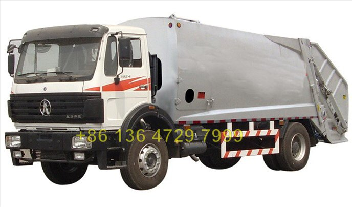 china 20 CBM beiben 6*4 drive waste management truck  manufacturer