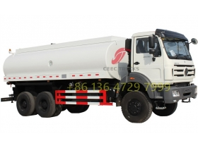 Beiben 2638 6x4 water delivery water tanker truck tanker truck  supplier
