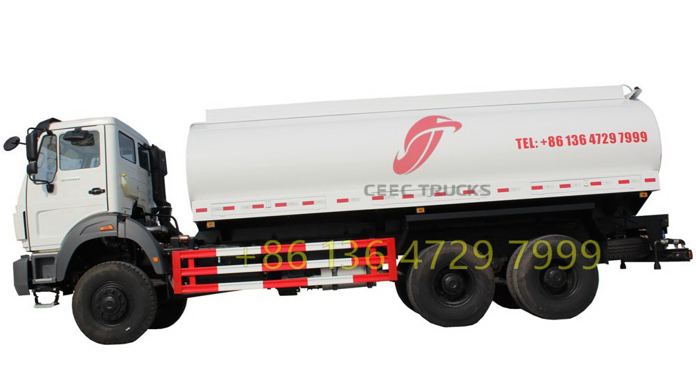 china Beiben NG80 6x4 20 cubic meters water tank truck price