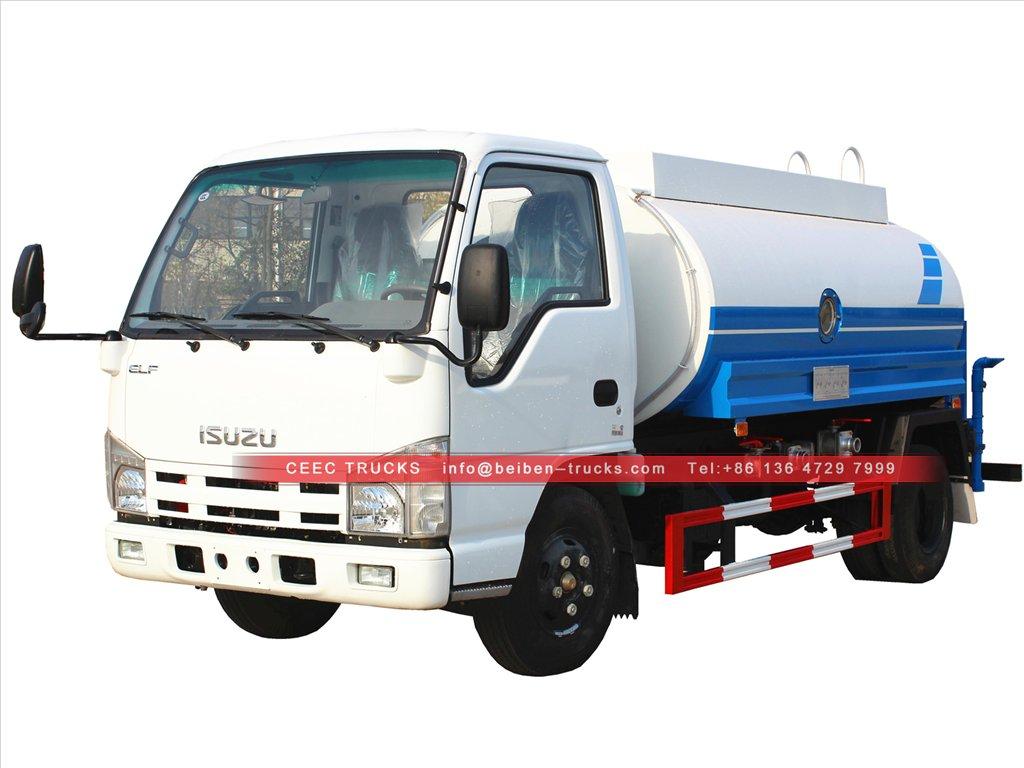 china isuzu 5 cbm water tanker truck