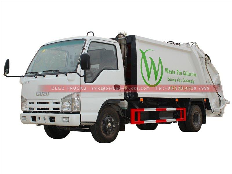 china isuzu 5 cbm garbage compactor