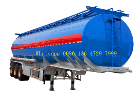 Oil Tanker Crude Oil Tank Trailer Fuel/petroleum 45000l Steel Fuel Tanker Semi Trailer
