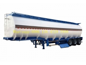 Professional 45000 Liters Fuel Tanker Semi Trailer With 5 Compartments