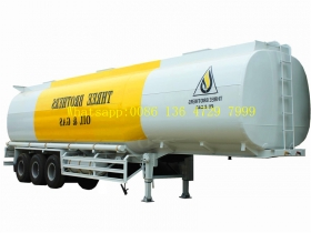 Cabon steel material Fuel Tank Semi Trailer 3 axles