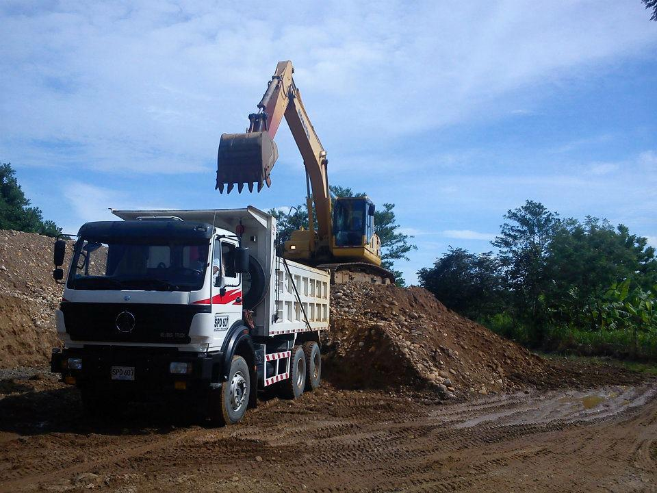 South asia customer place order of beiben 340 Hp engine dump trucks