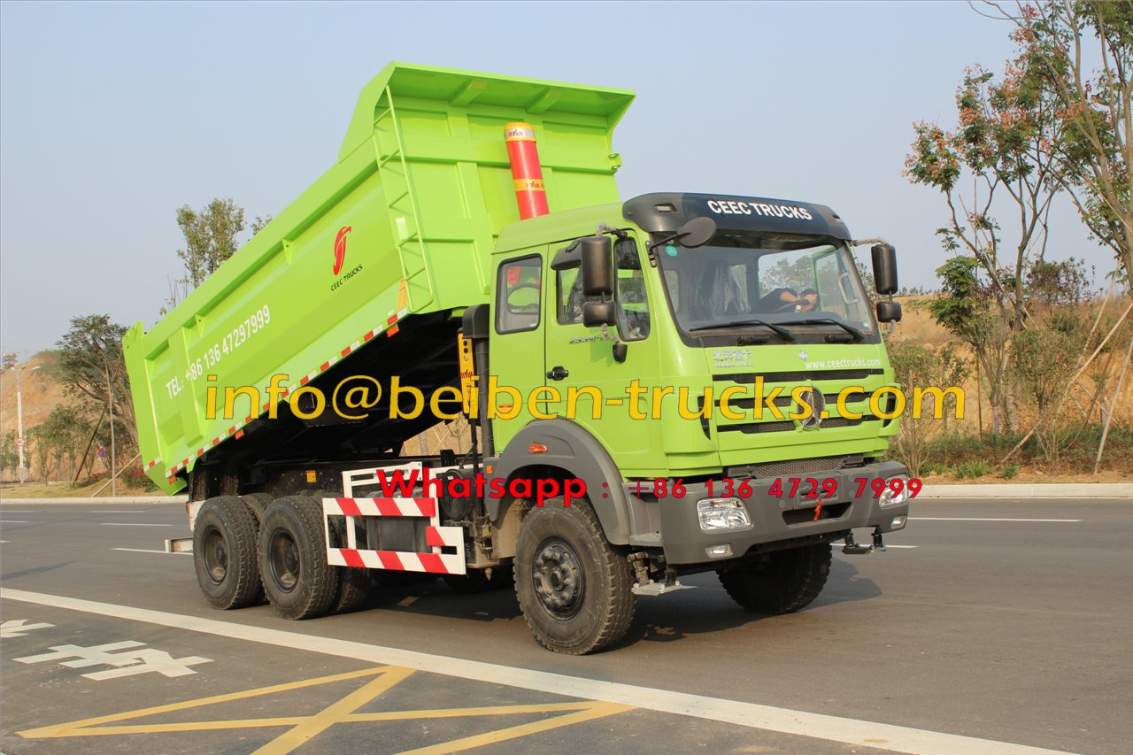 Beiben 60 T heavy duty dump truck in road test