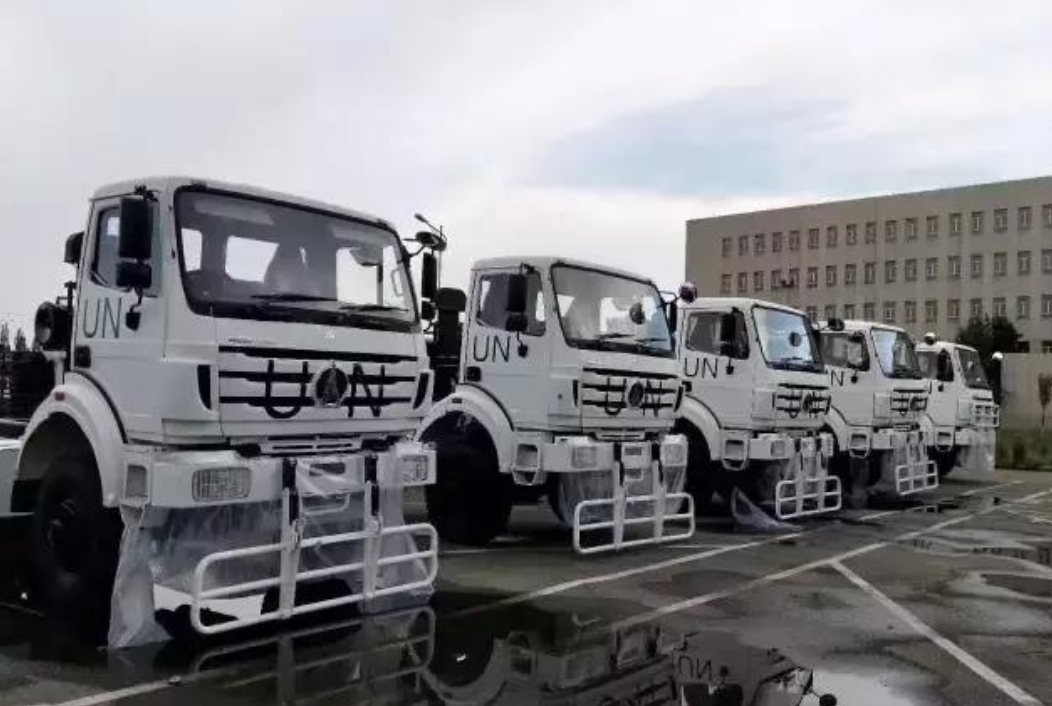 Beiben 6×6 truck export to UN military force