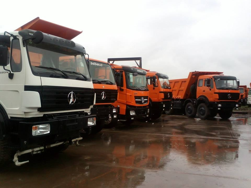 Chile dealer sign great agreement with beiben trucks plant