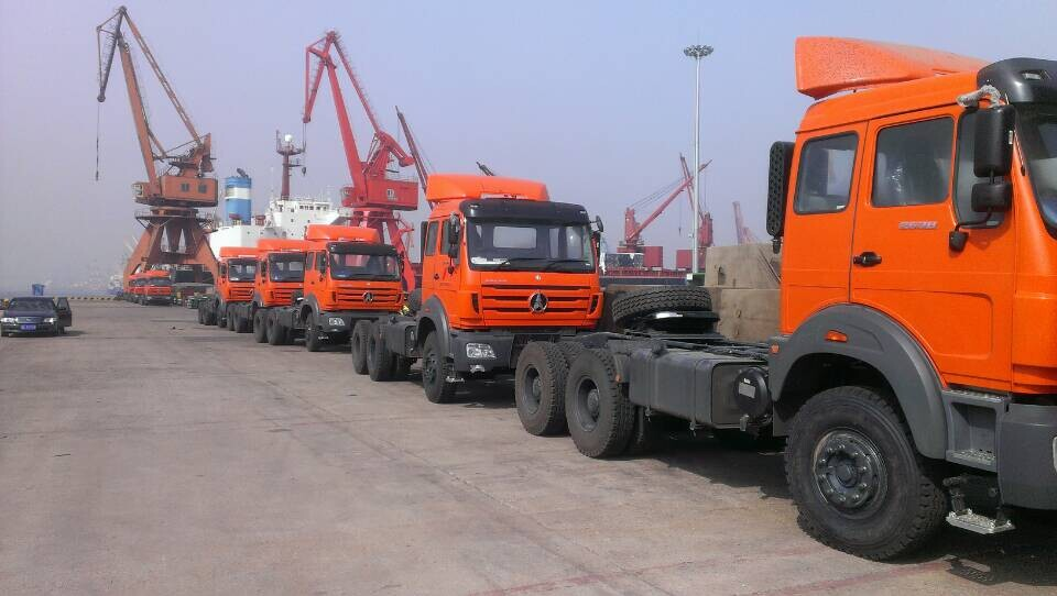 Tanzania customer order 10 units beiben 2638 right hand drive tractor trucks