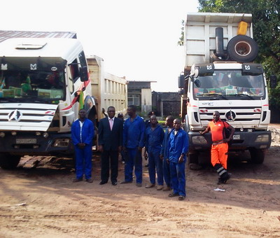 Congo loyal customer give great empression on north benz 2534 dump trucks
