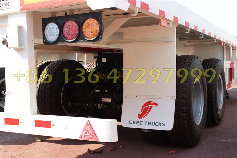 60 T heavy duty bogie suspension container semitrailer for CONGO
