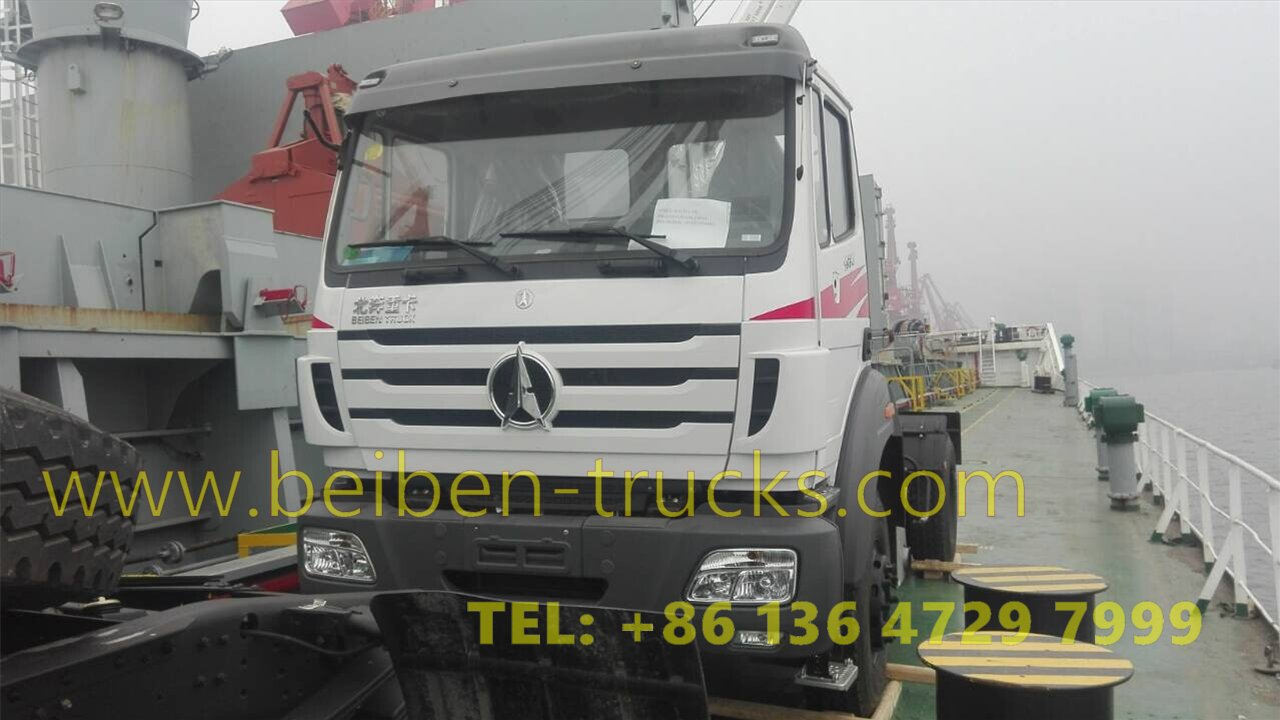 Beiben 2638 prime movers are on board from china to africa congo