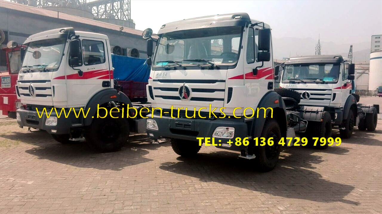 10 units beiben 2538 tractor truck and beiben 1934 tractor trucks are shipped at shanghai seaport
