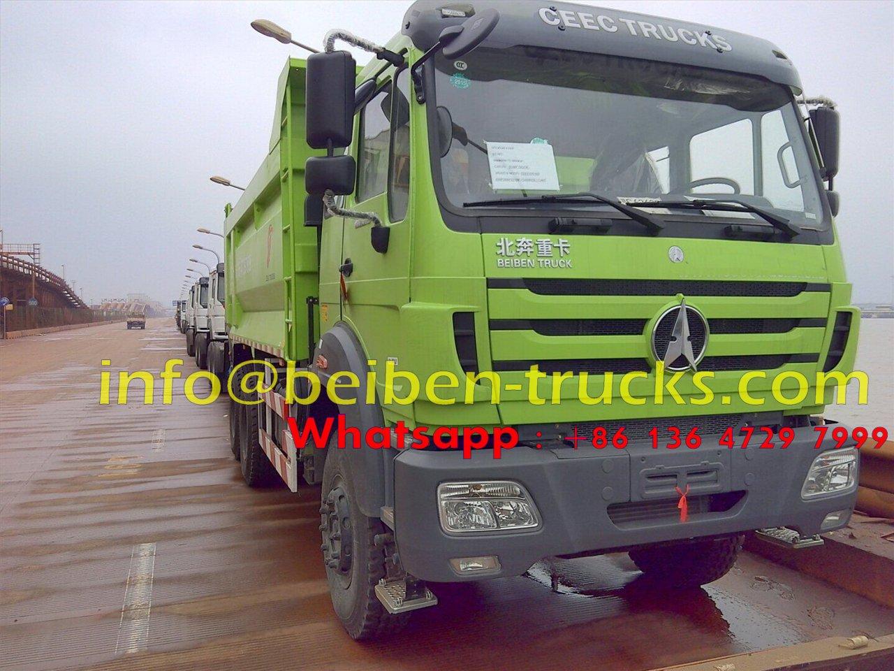Beiben 60 T heavy duty dumper export to Douala, Cameroon
