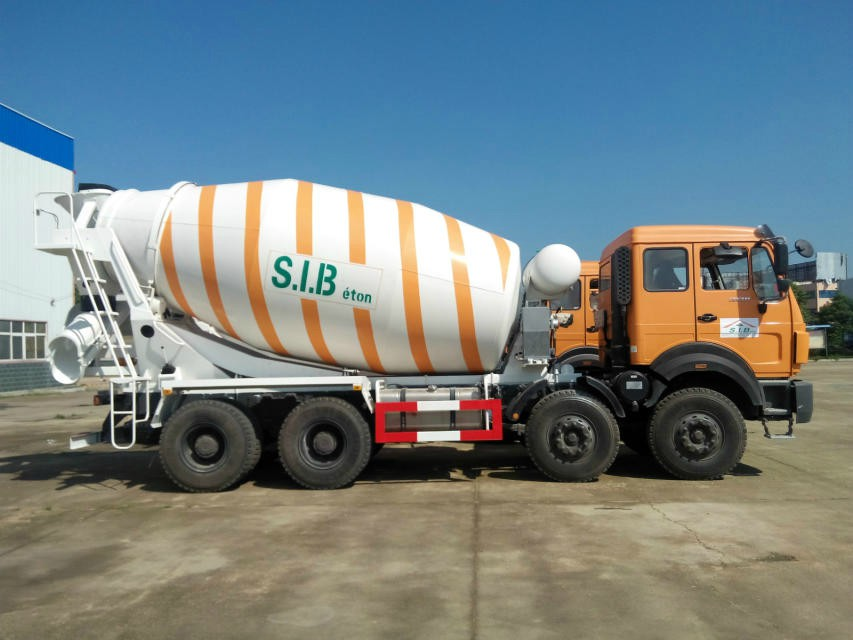 Algeria customer place order of 10 units beiben 8*4 concrete mixer trucks