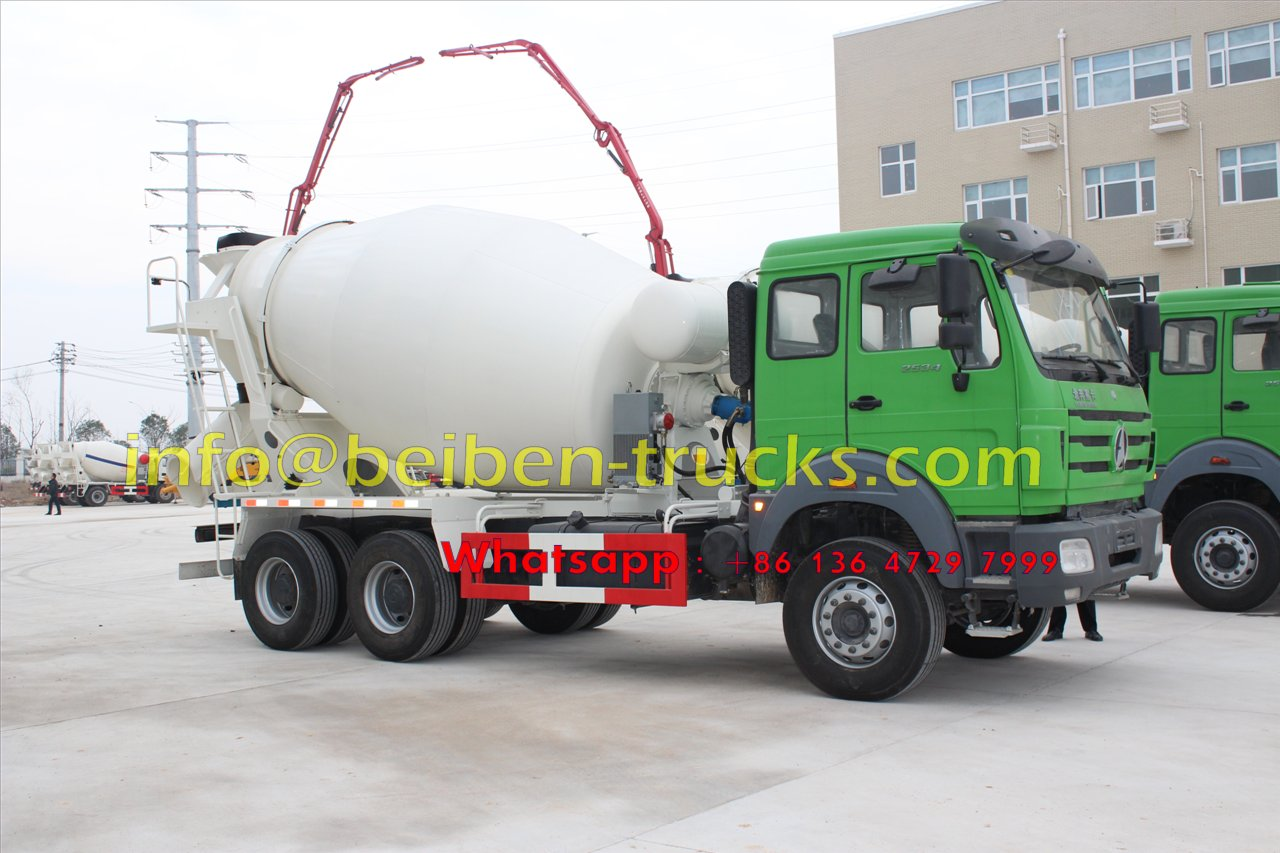 Beiben 9 CBM concrete mixer truck in strict inspection