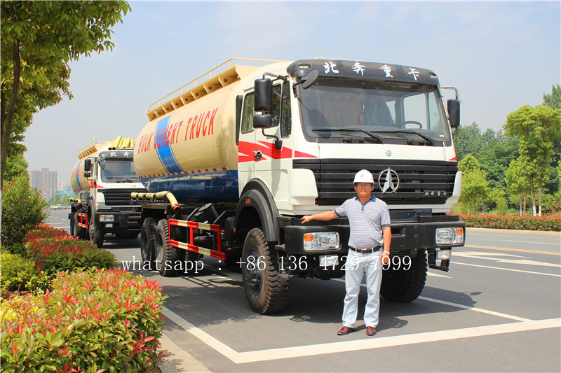 Uzbekistan- 2 units beiben 6*6 cement tanker exported
