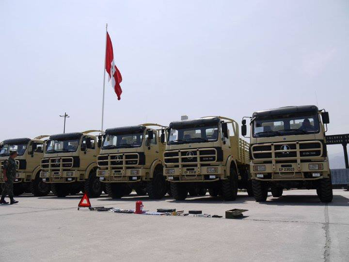 Peru Military force apply beiben all wheel drive trucks