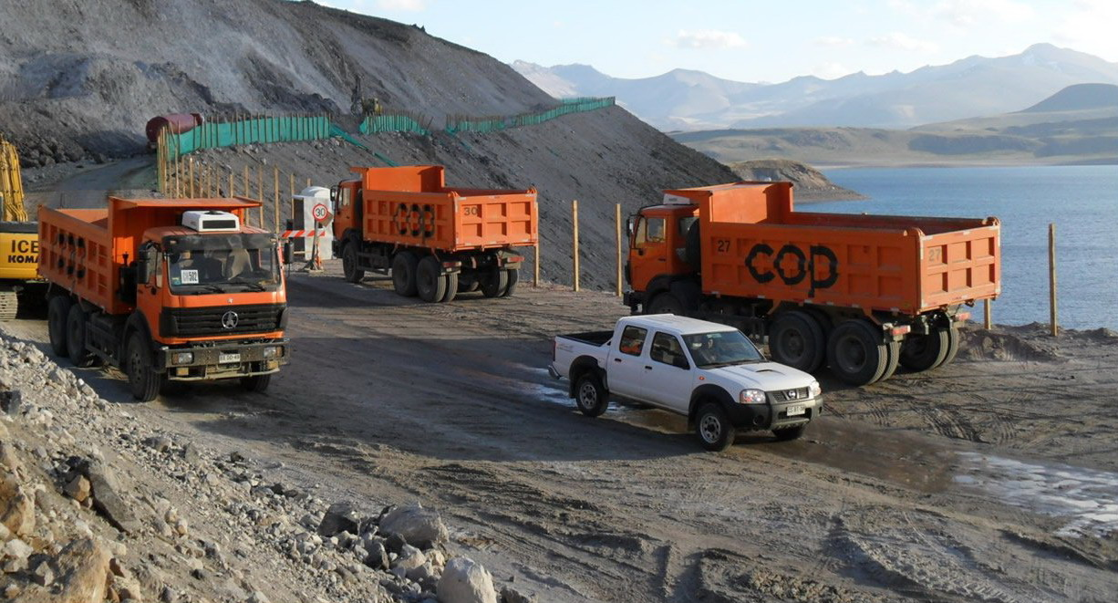Beiben 2538K dump truck 30 T capaicty for south america customer using