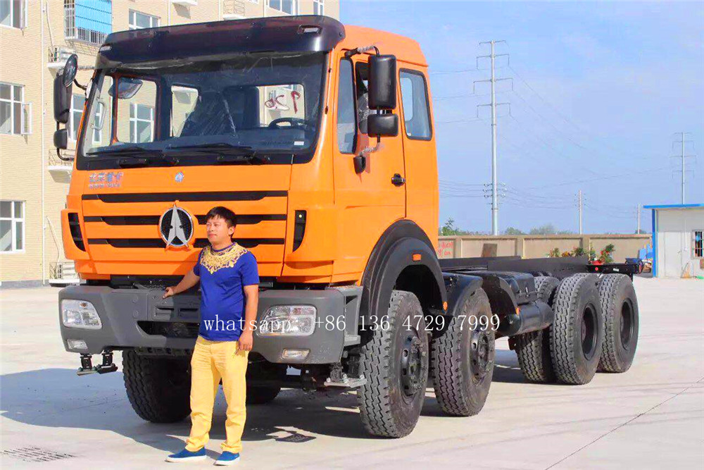 Cote divoire- 15 units beiben 8×4 truck chassis are exported