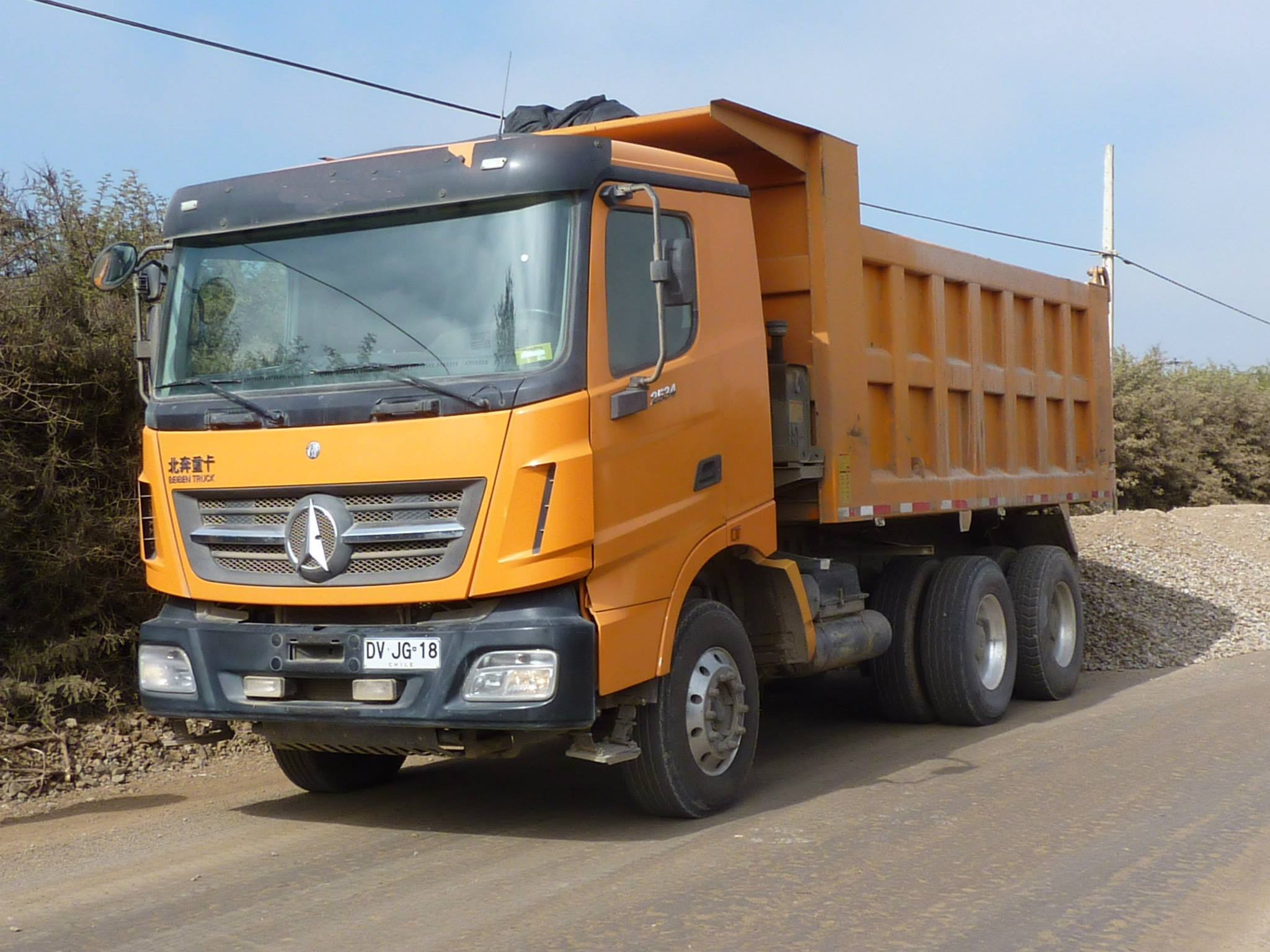 Beiben V3 dump truck in working