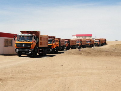 25 units beiben 2538K dump trucks in Uzbekistan customer project