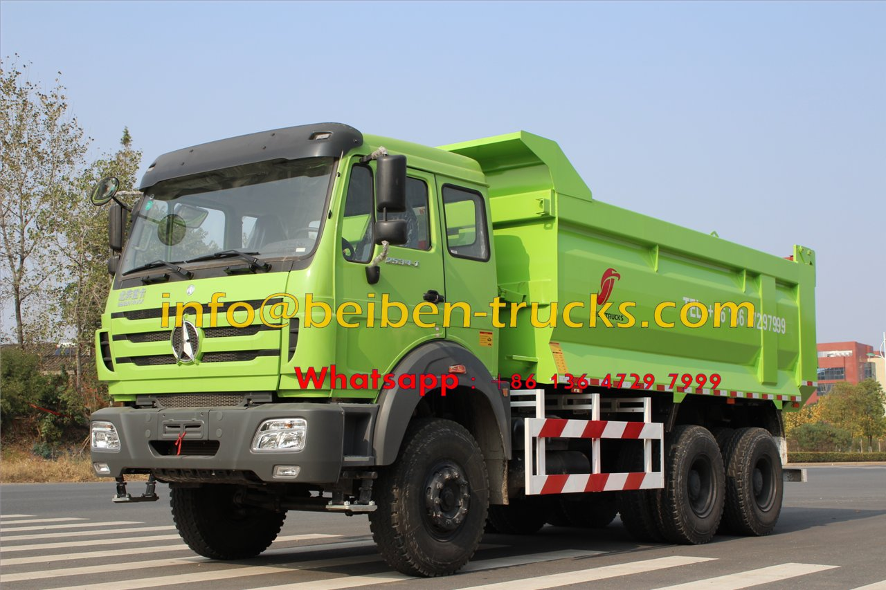 Baotou beiben 2534 dump truck supplier