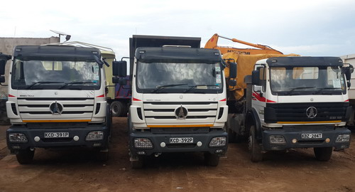 Beiben 2538 tractor trucks for kenya construction company