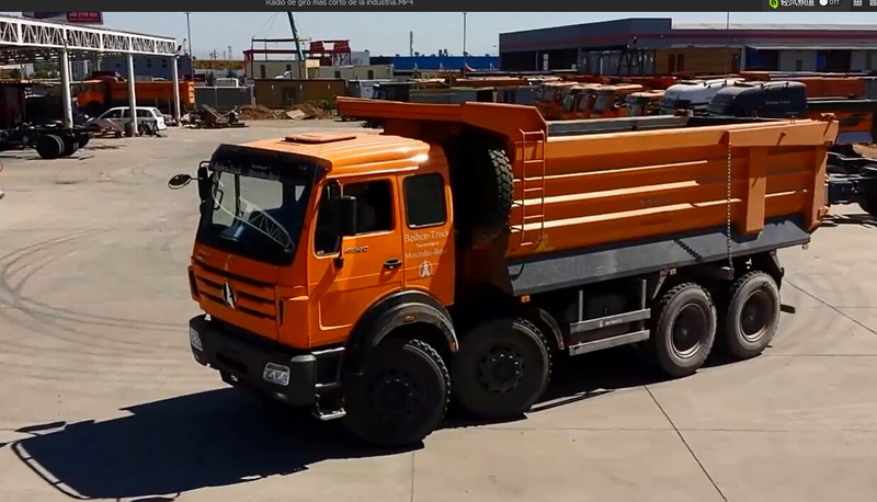 North benz 12 wheeler tipper dump truck in customer working project.