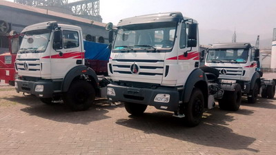 10 units beiben 2538 tractor and 1934 tractor are shipped at shanghai seaport