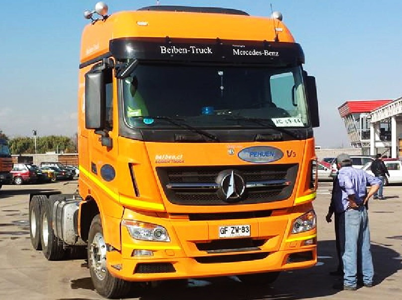 Beiben V3 tractor truck in road test