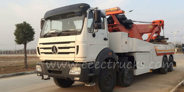 Beiben 50 T wrecker truck for exporting to Tanzania country